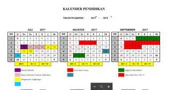 Kalender Tahun 2018 Excel Kalender Pendidikan Tahun Pelajaran 2017 2018 Png