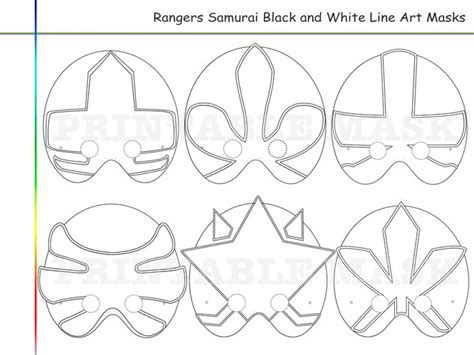 power rangers mask coloring pages coloring pages rangers samurai party printable black and