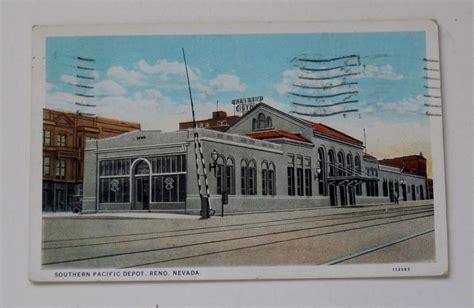 reno nv southern pacific rr depot postcard railroad