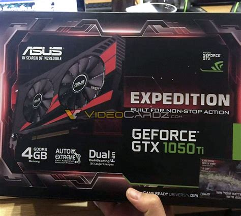 Zotac Gtx1050 Ti 4g D5 Oc Dual Fan asus geforce gtx 1050 ti pictured videocardz