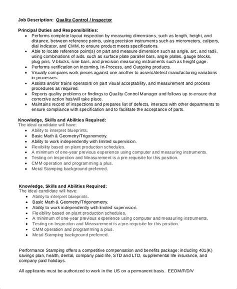 Layout Inspector Job Description | inspector job description botbuzz co