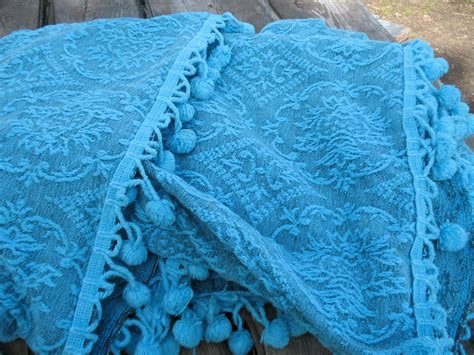 turquoise coverlet king turquoise chenille bedspread blanket coverlet cotton w