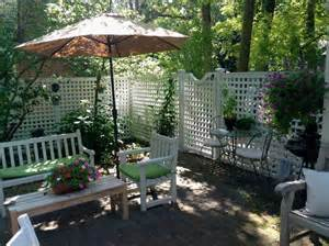 patio table fence boards