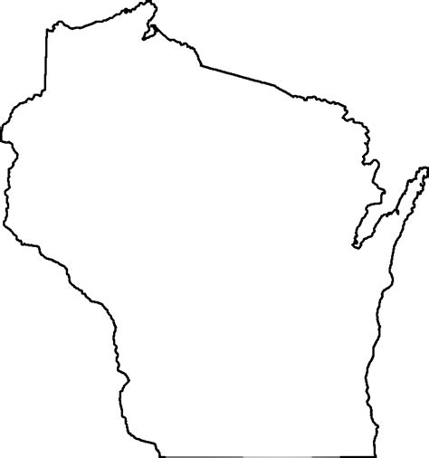 Clipart Coloring Book Wisconsin Wisconsin Coloring Pages