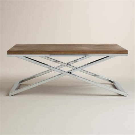 Wood And Chrome Coffee Table Wood And Chrome Pierceson Coffee Table World Market