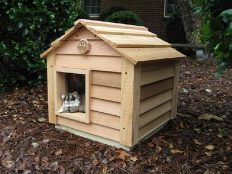 cat dog house cedar cat house