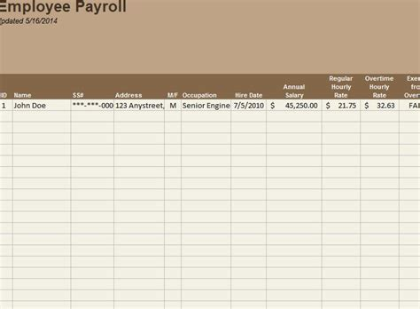 employee payroll tracker