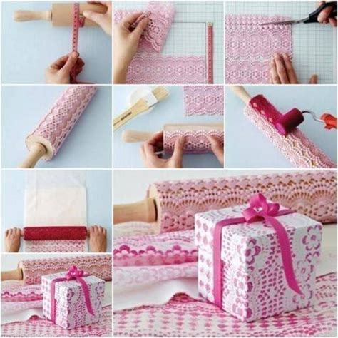 How To Make Wrapping Paper - wonderful diy easy self print lace pattern gift wrap