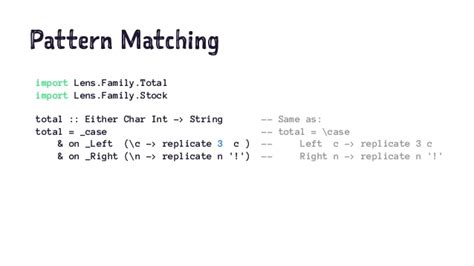 pattern matching string ocaml the next great functional programming language