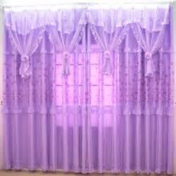 romantique rideau sheer violet pour chambre sans