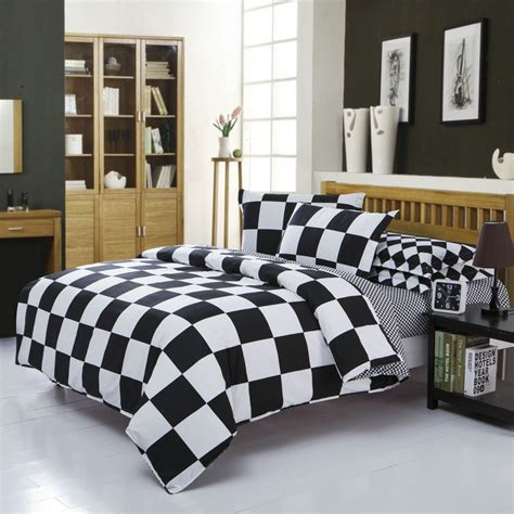 black and white bedding full classical black and white cotton bedding set home textile