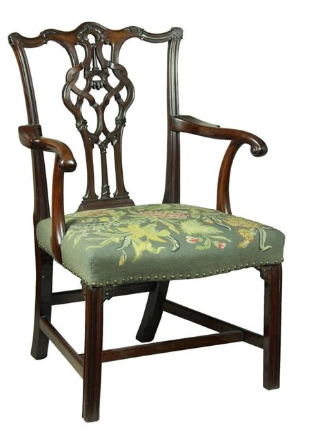 chippendale armchair chippendale armchair with elaborate splat and icicle carving clipart best