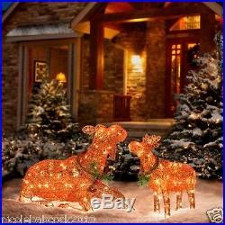 moose 60 inch lighted outdoor display lighted santa claus moose set of 2 36 22 yard decor decor world