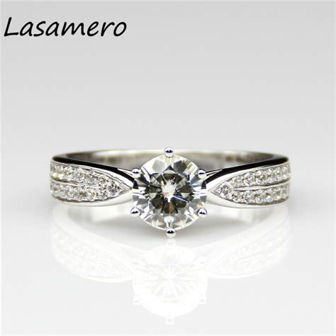 Wedding Ring Test by Lasamero 1 Ct Moissanites Lab Grown Engagement