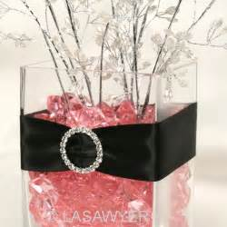 pink centerpieces pink and black wedding centerpieces wedding decorations
