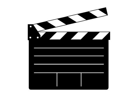 Free Clapper Board Vector Thing 1 Editable Template