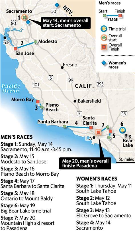 tour of california map amgen tour of california to begin may 14 in sacramento