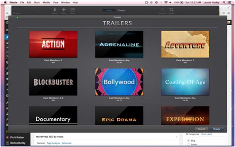 trailer templates for imovie imovie themes templates for mac users