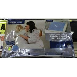 therapedic 174 cooling gel and memory foam pillow therapedic cooling gel and memory foam bed pillow