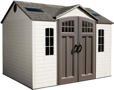 lifetime  side entry plastic storage shed  floor