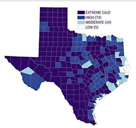 climate map of texas climate change crosses county lines study predicts how climate change will affect texas future