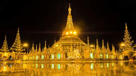 timelapse view  shwedagon pagoda stock footage video