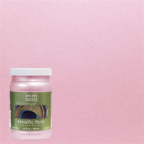 modern masters 1 qt pink pearl metallic interior exterior paint me70932 the home depot