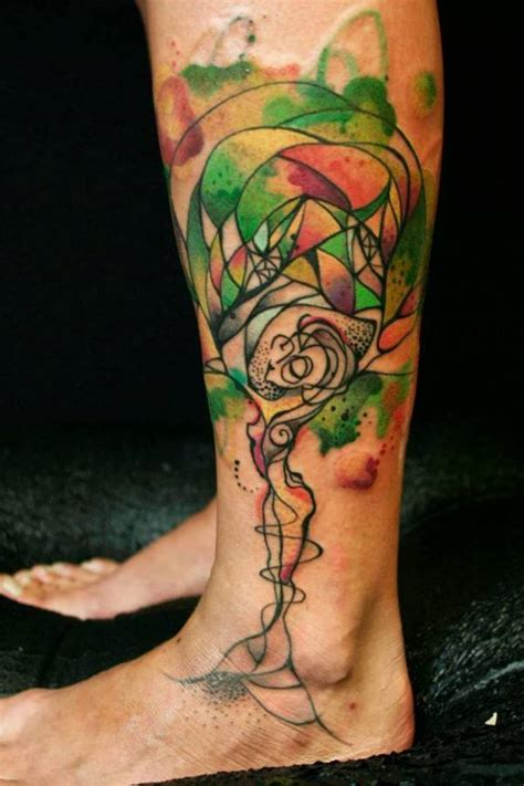 watercolor tree of life tattoo s vibrant and expressive watercolor tattoos 171