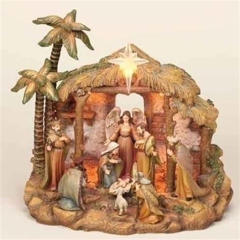 piece woodland inspirations bethlehem christmas nativity scene set walmartcom