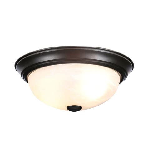 Bronze Ceiling Light Designers Reedley Collection 2 Light Flush Ceiling Rubbed Bronze Fixture 1257s Orb
