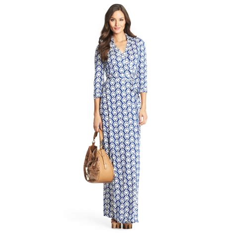 Outlet Alert Diane Furstenberg Graphic Patterned Dress by Diane Furstenberg Abigail Silk Jersey Maxi Wrap Dress