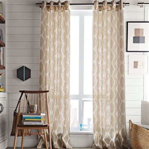 Ikat Ogee Curtains Ikat Ogee Linen Window Panel Office Home Sweet Home West Elm Window Panels