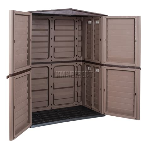 5ft X 3ft Shed by Starplast Outdoor Plastic Garden Shed Box Storage