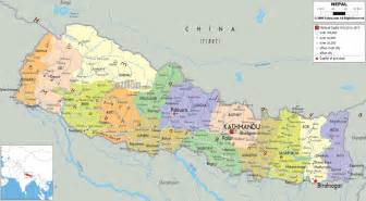 Map Nepal by Nepal World Map Images