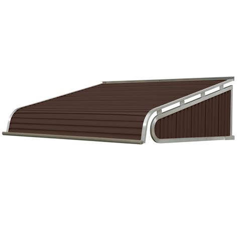 door awnings lowes shop nuimage awnings 60 in wide x 30 in projection brown slope door awning at lowes com