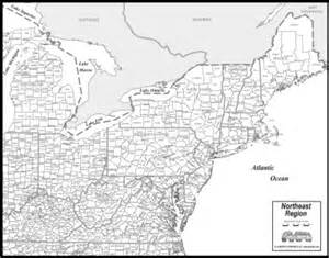 map of northeast counties maps to print northeast us