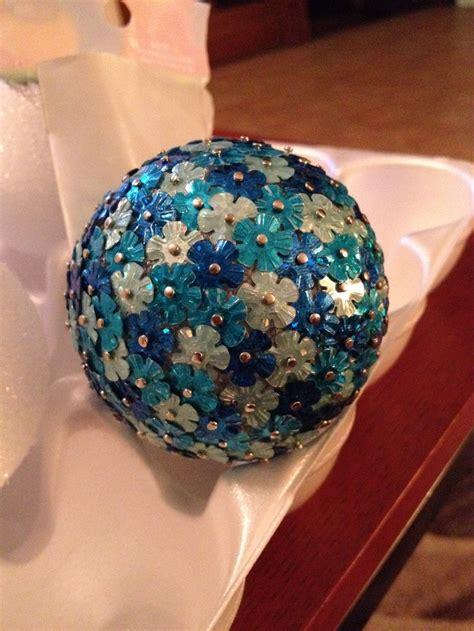 sequin ornaments ideas  pinterest