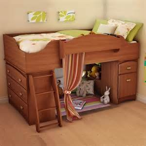 imagine wood loft bed set in cherry 3576a3