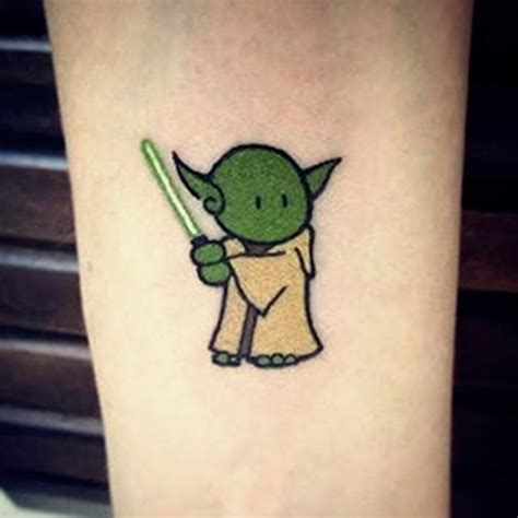 yoda tattoos tiny like master yoda with light