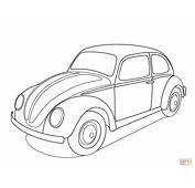 Volkswagen Beetle Coloring Page  Free Printable