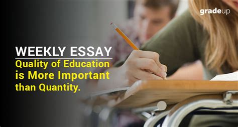 thesis about quality of education weekly essay quality of education is more important than