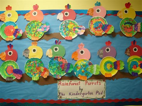 Kindergarten Paper Crafts - paper plate bird craft paper crafts