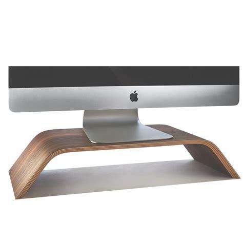 walnut monitor stand