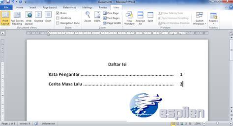 cara membuat daftar isi makalah di word 2007 cara membuat daftar isi titik titik otomatis di ms word