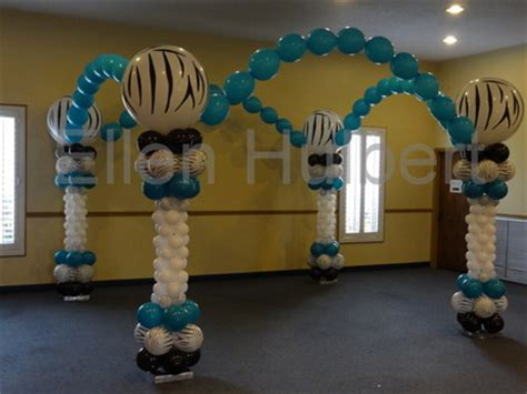 Balloon Arch Floor by Balloons By Design Home