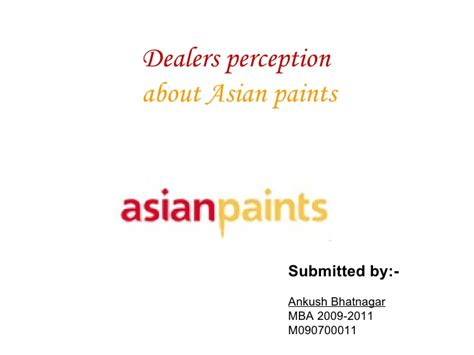 In Asian Paints For Mba Marketing by Ppt Asian Paints