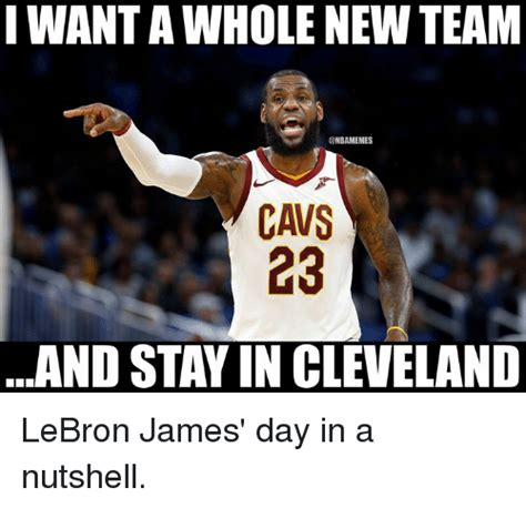 Cavs Memes - i want a whole new team cavs 23 and stay in cleveland