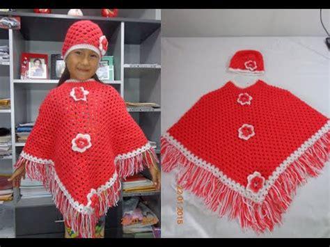 poncho material reciclado poncho a crochet juego completo paso a paso viyoutube