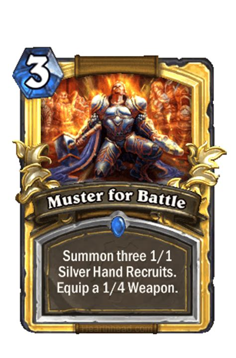 Muster For Battle Daily Card Discussion Thread 020 Muster For Battle July 31st 2015 Hearthstone