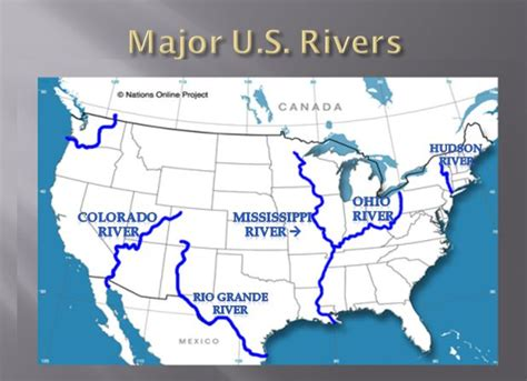 United States Major River Systems Map by Social Studies Ms Nakonechnyy S Third Grade